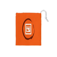 Circles Orange Drawstring Pouches (small)  by Mariart