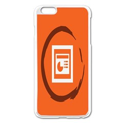 Circles Orange Apple Iphone 6 Plus/6s Plus Enamel White Case