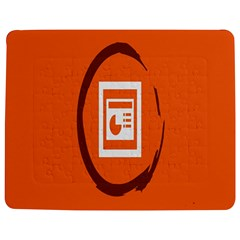 Circles Orange Jigsaw Puzzle Photo Stand (rectangular) by Mariart