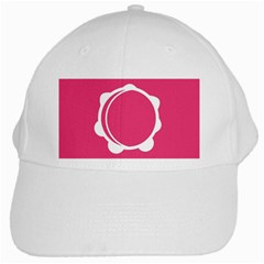 Circle White Pink White Cap by Mariart
