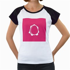 Circle White Pink Women s Cap Sleeve T