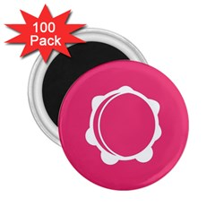 Circle White Pink 2 25  Magnets (100 Pack)  by Mariart