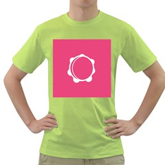 Circle White Pink Green T Shirt by Mariart
