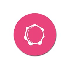 Circle White Pink Magnet 3  (round) by Mariart