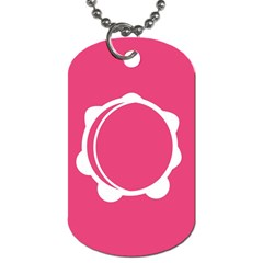Circle White Pink Dog Tag (one Side) by Mariart