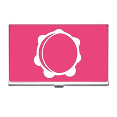 Circle White Pink Business Card Holders by Mariart