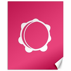 Circle White Pink Canvas 11  X 14   by Mariart