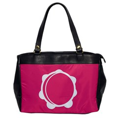 Circle White Pink Office Handbags by Mariart