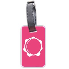 Circle White Pink Luggage Tags (two Sides) by Mariart