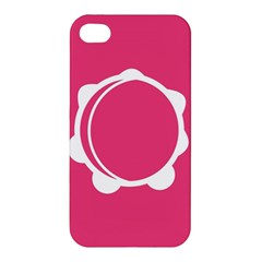 Circle White Pink Apple Iphone 4/4s Hardshell Case by Mariart