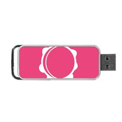 Circle White Pink Portable Usb Flash (one Side) by Mariart