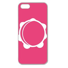 Circle White Pink Apple Seamless Iphone 5 Case (clear) by Mariart