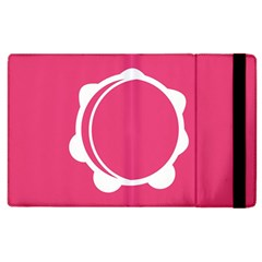 Circle White Pink Apple Ipad 2 Flip Case by Mariart