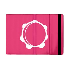 Circle White Pink Apple Ipad Mini Flip Case by Mariart