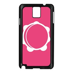 Circle White Pink Samsung Galaxy Note 3 N9005 Case (black) by Mariart