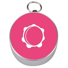 Circle White Pink Silver Compasses by Mariart
