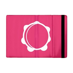 Circle White Pink Ipad Mini 2 Flip Cases by Mariart