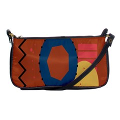 Digital Music Is Described Sound Waves Shoulder Clutch Bags by Mariart