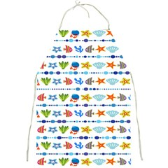 Coral Reef Fish Coral Star Full Print Aprons by Mariart