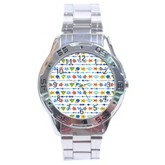 Coral Reef Fish Coral Star Stainless Steel Analogue Watch by Mariart