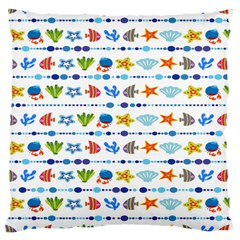 Coral Reef Fish Coral Star Large Cushion Case (two Sides) by Mariart