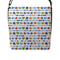 Coral Reef Fish Coral Star Flap Messenger Bag (l)  by Mariart