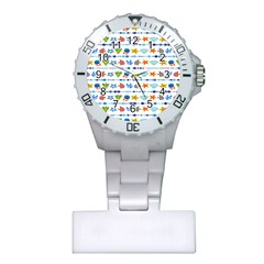 Coral Reef Fish Coral Star Plastic Nurses Watch by Mariart