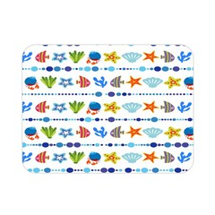 Coral Reef Fish Coral Star Double Sided Flano Blanket (mini)  by Mariart