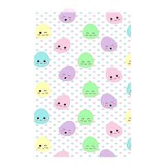 Egg Easter Smile Face Cute Babby Kids Dot Polka Rainbow Shower Curtain 48  X 72  (small)  by Mariart
