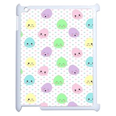 Egg Easter Smile Face Cute Babby Kids Dot Polka Rainbow Apple Ipad 2 Case (white) by Mariart