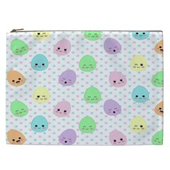 Egg Easter Smile Face Cute Babby Kids Dot Polka Rainbow Cosmetic Bag (xxl)  by Mariart