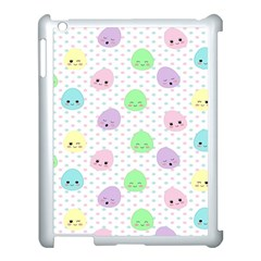 Egg Easter Smile Face Cute Babby Kids Dot Polka Rainbow Apple Ipad 3/4 Case (white) by Mariart