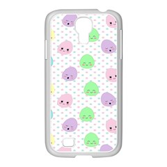 Egg Easter Smile Face Cute Babby Kids Dot Polka Rainbow Samsung Galaxy S4 I9500/ I9505 Case (white)