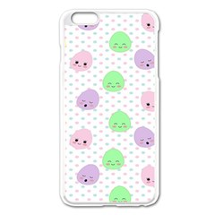 Egg Easter Smile Face Cute Babby Kids Dot Polka Rainbow Apple Iphone 6 Plus/6s Plus Enamel White Case by Mariart
