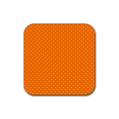 Dots Rubber Square Coaster (4 Pack)  by Valentinaart