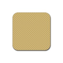 Dots Rubber Square Coaster (4 Pack)