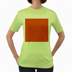 Dots Women s Green T Shirt