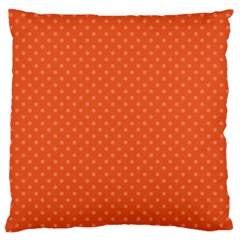 Dots Large Flano Cushion Case (one Side)