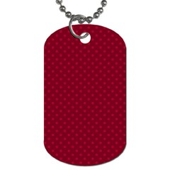 Dots Dog Tag (one Side) by Valentinaart