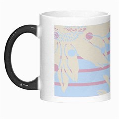 Flower Floral Sunflower Line Horizontal Pink White Blue Morph Mugs by Mariart