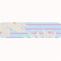 Flower Floral Sunflower Line Horizontal Pink White Blue Large Bar Mats by Mariart
