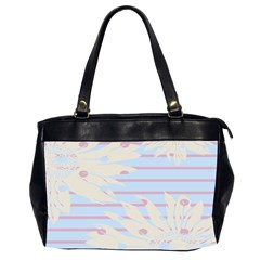 Flower Floral Sunflower Line Horizontal Pink White Blue Office Handbags (2 Sides)  by Mariart