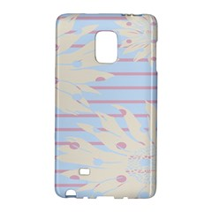 Flower Floral Sunflower Line Horizontal Pink White Blue Galaxy Note Edge by Mariart