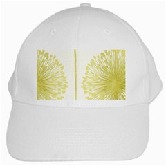 Flower Floral Yellow White Cap by Mariart