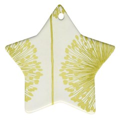 Flower Floral Yellow Ornament (star)