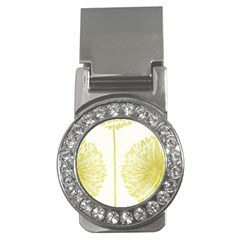 Flower Floral Yellow Money Clips (cz)  by Mariart