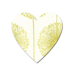 Flower Floral Yellow Heart Magnet by Mariart