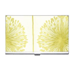 Flower Floral Yellow Business Card Holders by Mariart