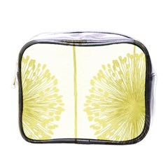 Flower Floral Yellow Mini Toiletries Bags by Mariart