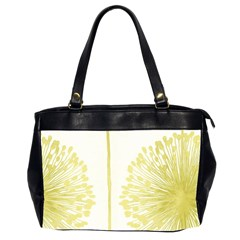 Flower Floral Yellow Office Handbags (2 Sides)  by Mariart